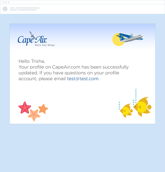 Cape Air Email Confirmations  screen shot