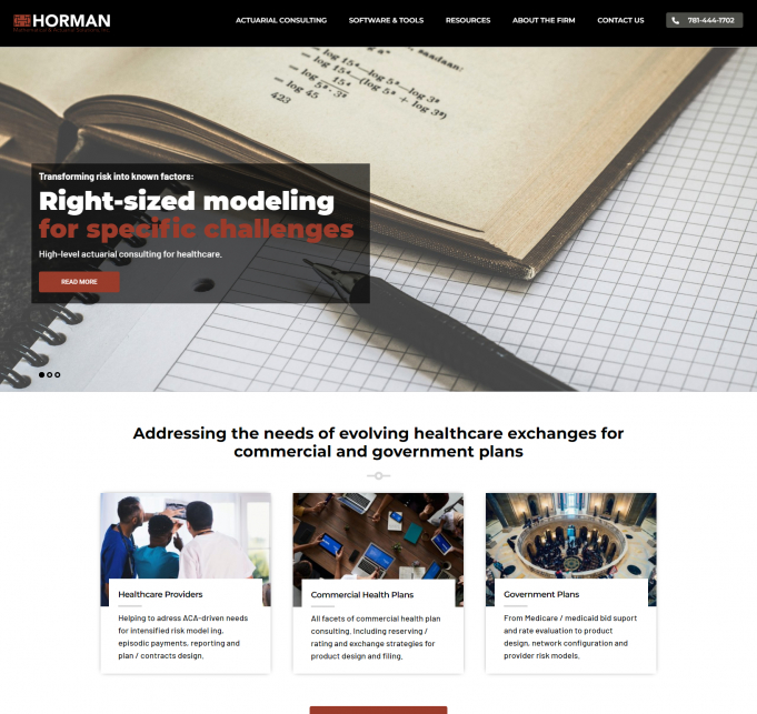 Horman Mathematical & Actuarial Solutions screen shot
