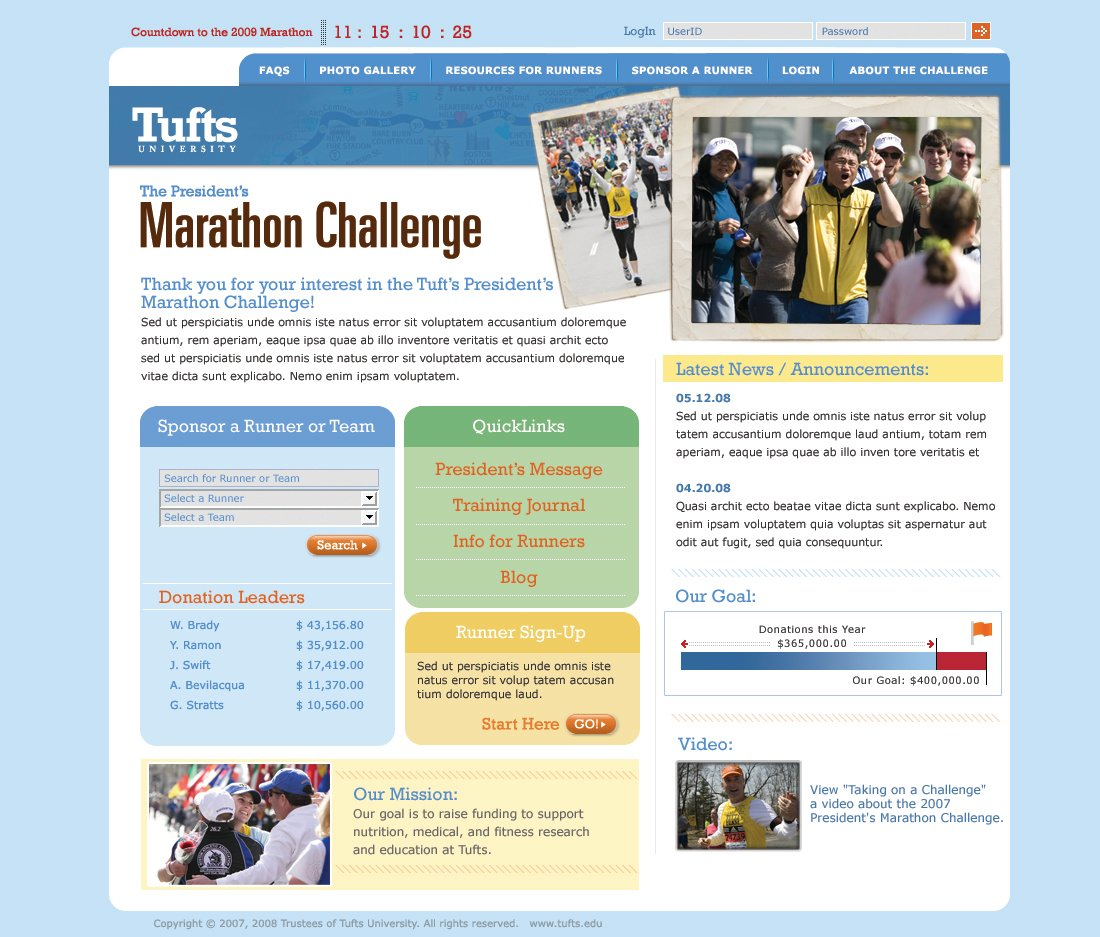 Tufts University - Marathon Challenge screen shot