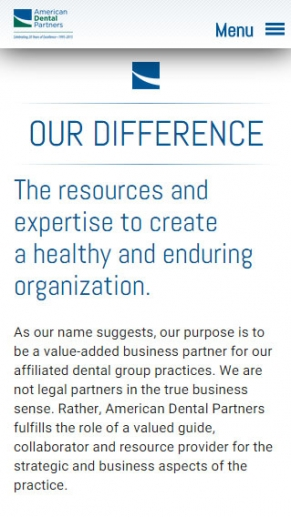 American Dental Partners screen shot
