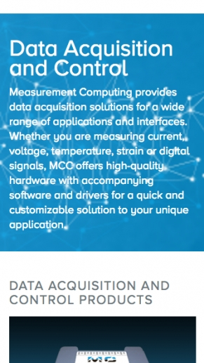 Measurement Computing screen shot