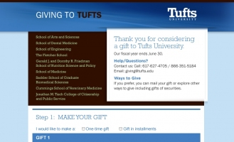 Tufts University - Online Giving